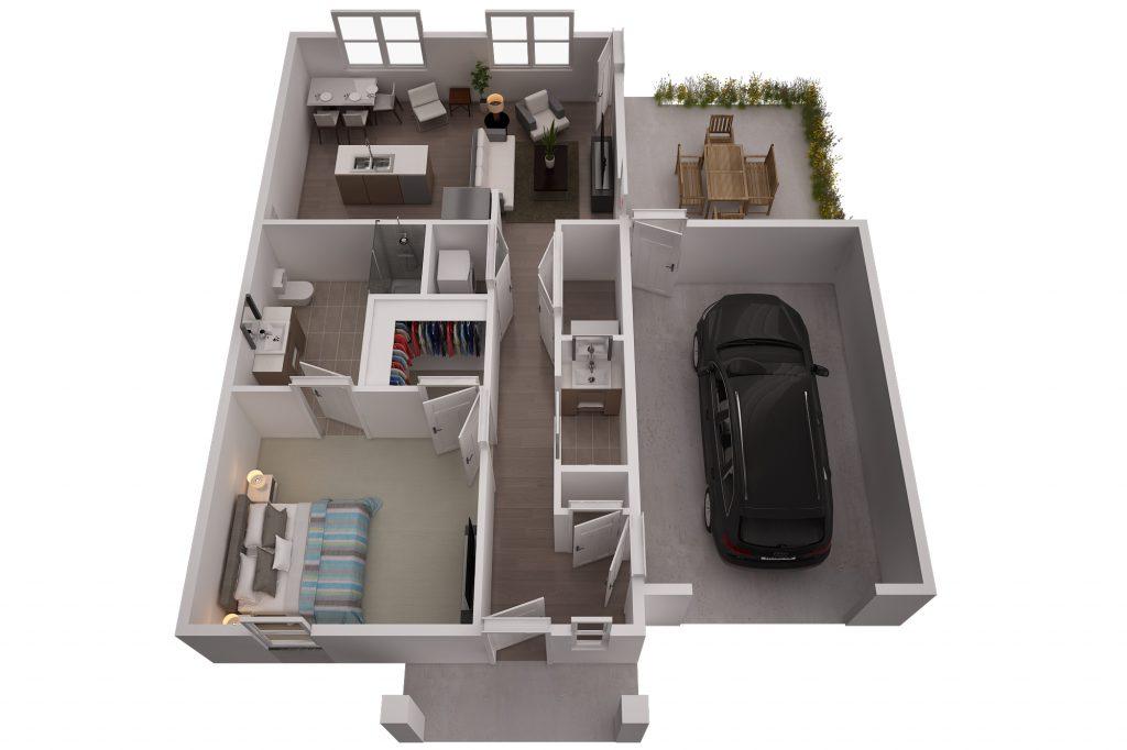 One-bedroom independent living villa